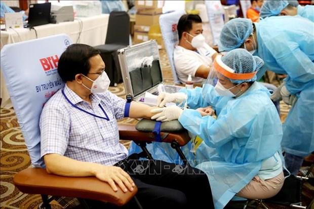 HCM-Ville : don de sang face a l'epuisement de la reserve de sang hinh anh 1