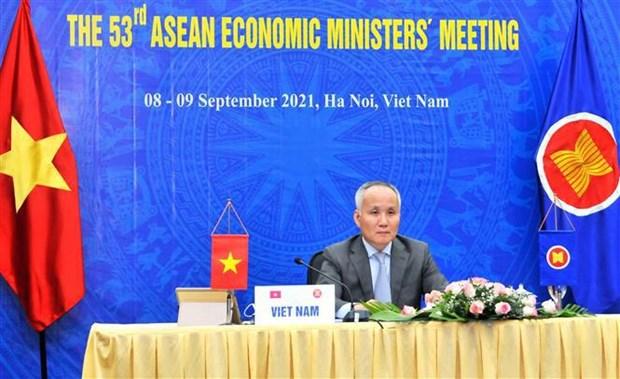 Les ministres de l'Economie de l'ASEAN adoptent la feuille de route de Bandar Seri Bagawan hinh anh 1