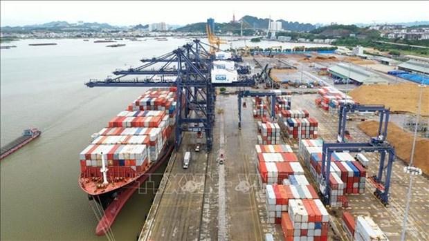 Quang Ninh: un navire d'un tonnage de plus de 50.000 tonnes mouille au port de Cai Lan hinh anh 1