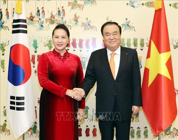 Entretien Nguyen Thi Kim Ngan - Moon Hee-sang hinh anh 1