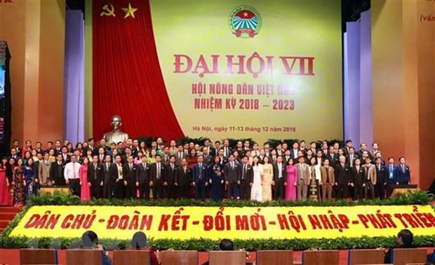Cloture du 7e Congres national des delegues de l'Association des agriculteurs vietnamiens hinh anh 1