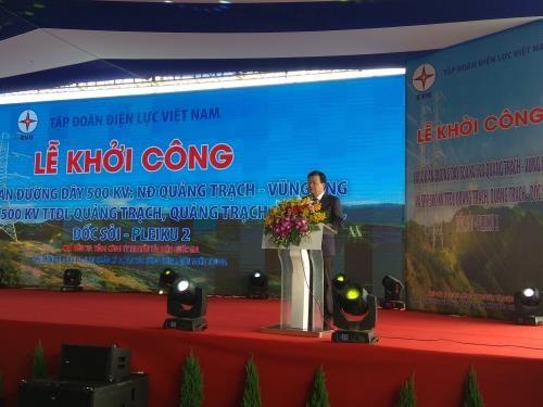 Quang Nam: construction d'une ligne electrique a 500 kV hinh anh 1
