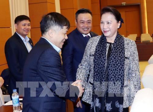 La presidente de l'Assemblee Nationale travaille avec le Groupe national gazo-petrolier du Vietnam hinh anh 1