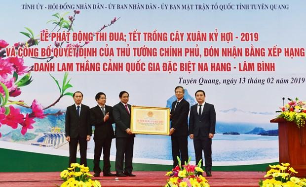 La reserve naturelle de Na Hang - Lam Binh reconnue site national special hinh anh 1