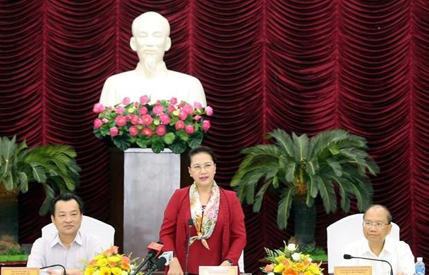 La presidente de l'AN Nguyen Thi Kim Ngan se rend a Binh Thuan hinh anh 1
