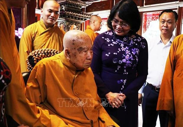 La vice-presidente felicite les bouddhistes de Dong Nai hinh anh 1