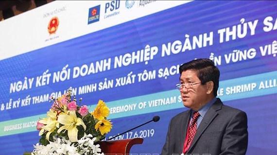Journee d'alliance d'entreprise dans l'aquaculture a Ca Mau hinh anh 1