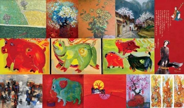 La peinture des 12 signes du zodiaque vietnamien dans la vie contemporaine hinh anh 1
