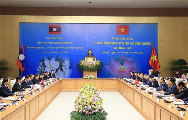 La 42e session du Comite intergouvernemental de la cooperation bilaterale Vietnam - Laos hinh anh 1