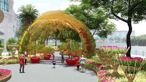 Foire des fleurs printanieres de Phu My Hung 2020 hinh anh 1