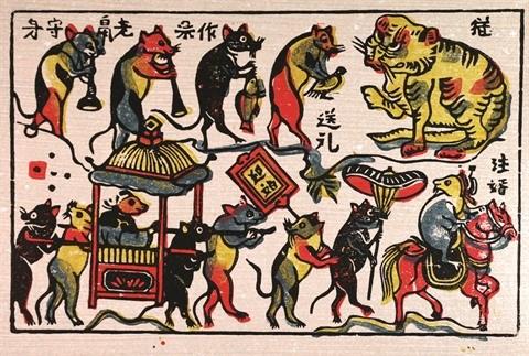 La symbolique du rat dans les estampes populaires de Dong Ho hinh anh 1