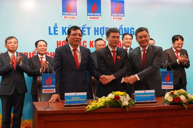 PVN : signature d'un contrat de projets de gaz-electricite-port de services hinh anh 1