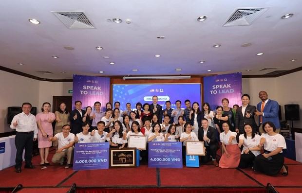 Des eleves vietnamiens donnent des initiatives pour promouvoir les relations Vietnam-Etats-Unis hinh anh 1