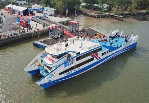 Lancement du ferry maritime entre Can Gio et Vung Tau hinh anh 1