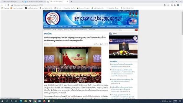 Pathet Lao affirme la signification du succes du Congres du Parti des deux pays Vietnam - Laos hinh anh 1