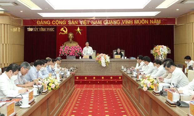 Vo Van Thuong, Permanent du Secretariat du Parti, travaille avec les autorites de Vinh Phuc hinh anh 1