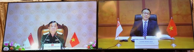 Le 12e Dialogue sur la politique de defense Vietnam-Singapour hinh anh 1