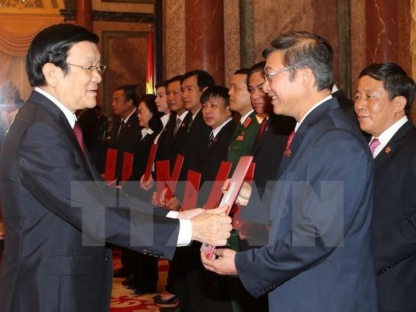 Le President Truong Tan Sang nomme 15 juges a la Cour populaire supreme hinh anh 1