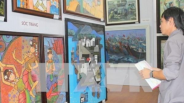 Ouverture de la 20e exposition des beaux-arts du delta du Mekong hinh anh 1