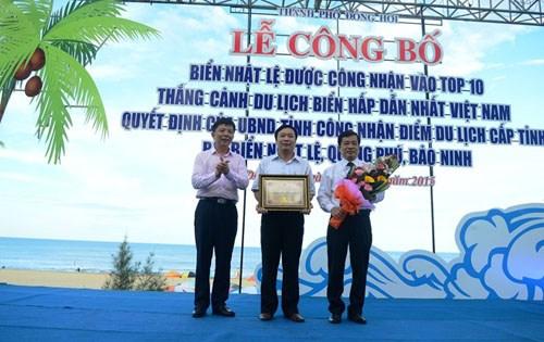 Nhat Le dans le top 10 des sites touristiques maritimes les plus attrayants hinh anh 1