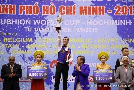 Billard : un Turc remporte la Coupe du monde de Ho Chi Minh-Ville hinh anh 1