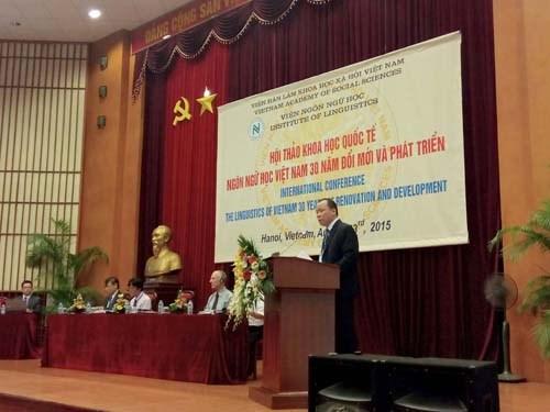 La linguistique du Vietnam, 30 ans de renovation et de developpement hinh anh 1