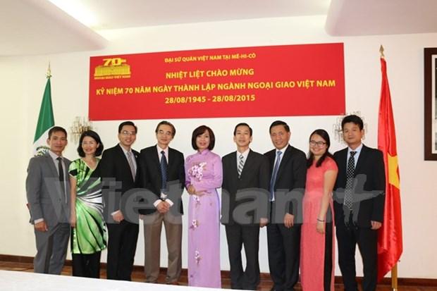 Ceremonie de celebration des 70 ans de la diplomatie vietnamienne au Mexique hinh anh 1