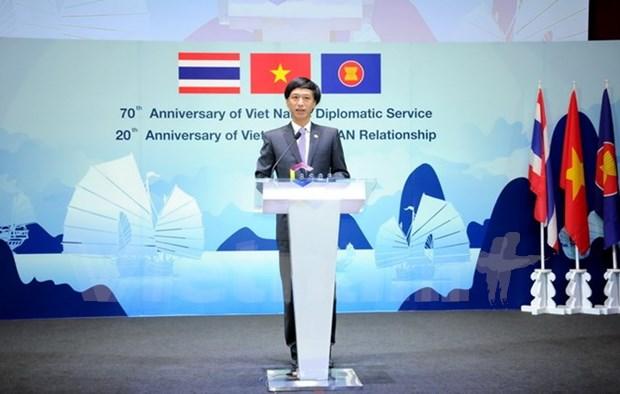 Celebration du 70 ans de la diplomatie vietnamienne en Thailande hinh anh 1