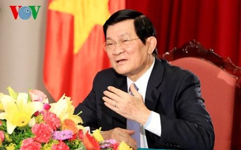 Le president Truong Tan Sang va celebrer la victoire sur le fascisme en Chine hinh anh 1