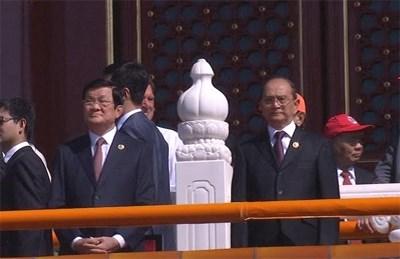 Le president Truong Tan Sang a la celebration de la victoire sur le fascisme en Chine hinh anh 1