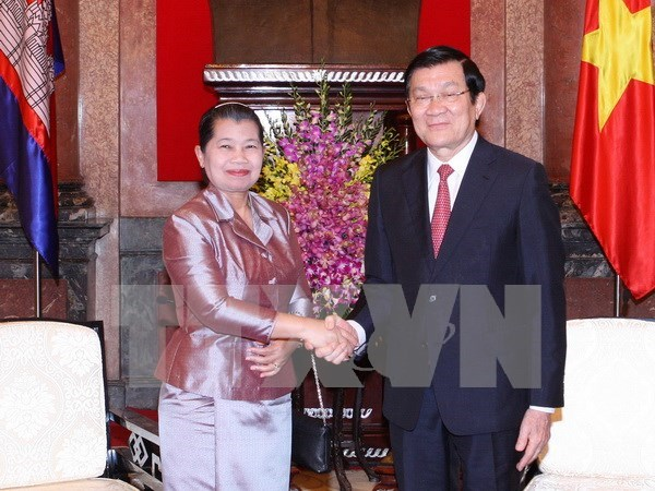 Le president Truong Tan sang recoit la vice-PM cambodgienne hinh anh 1