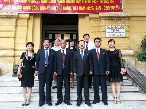 Syndicat : renforcement de la cooperation entre le Vietnam et la RPD de Coree hinh anh 1