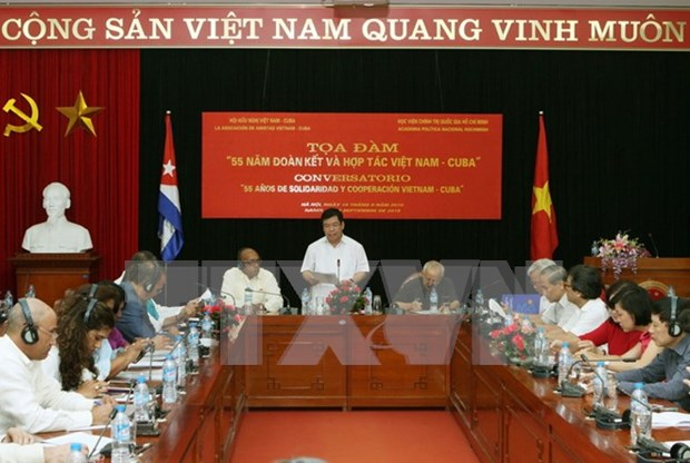 Colloque sur les 55 ans de solidarite et de cooperation Vietnam-Cuba hinh anh 1