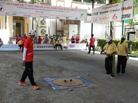 Ouverture du Tournoi international de petanque a Ho Chi Minh-Ville hinh anh 1
