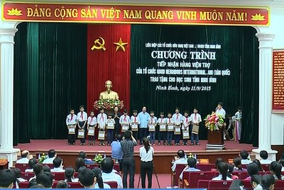 La Republique de Coree soutient des eleves demunis de Ninh Binh hinh anh 1