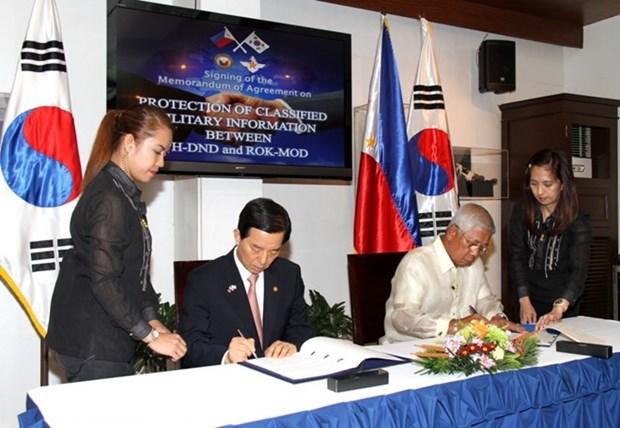 R. de Coree et Philippines cooperent dans la protection des informations classifiees de defense hinh anh 1