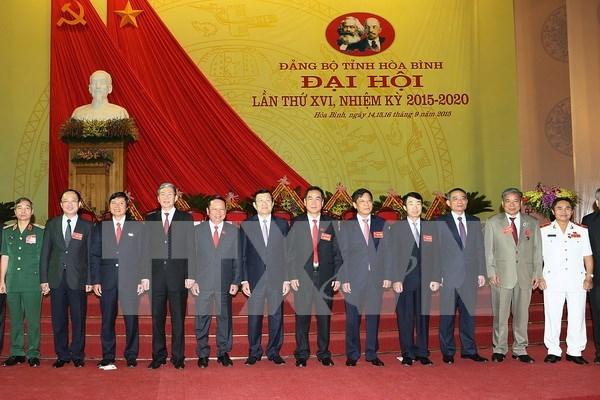 Le chef de l'Etat au 16e Congres du PCV pour Hoa Binh hinh anh 1