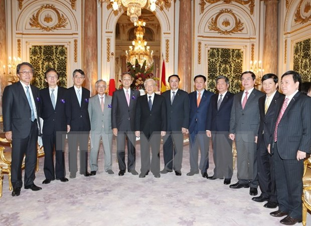 Activites du secretaire general Nguyen Phu Trong au Japon hinh anh 1