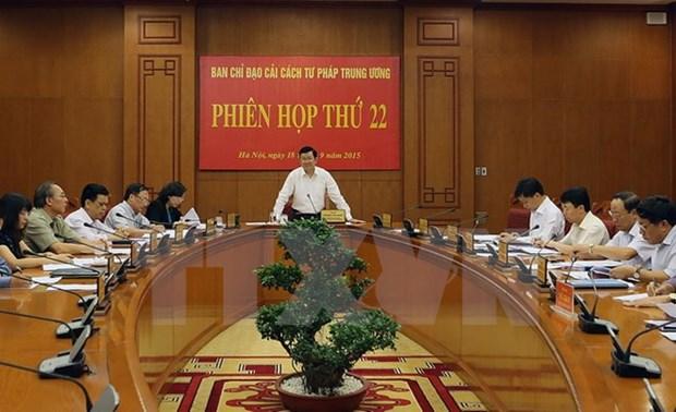 La 22e Reunion du Comite national pour la reforme judiciaire hinh anh 1