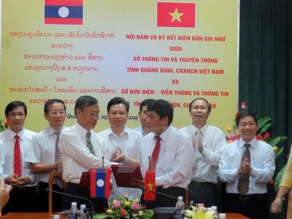 Information : promouvoir la cooperation entre Quang Binh et Khammouane hinh anh 1