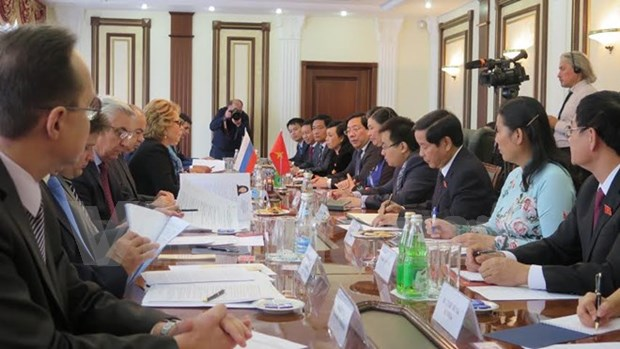 La vice-presidente de l'AN Tong Thi Phong en visite officielle en Russie hinh anh 1