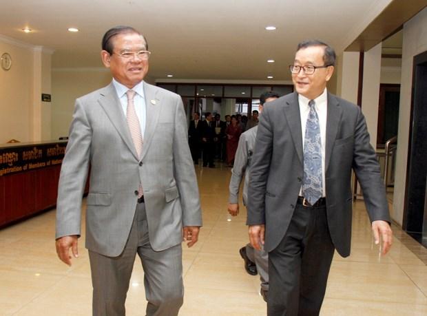 Cambodge : PPC et CNRP discutent de l'amendement de la loi electorale hinh anh 1