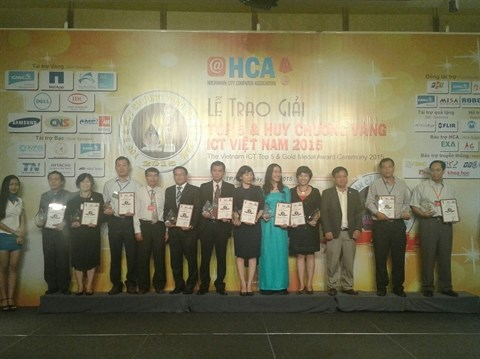 Remise du Top 5 et de la medaille d'or des TIC Vietnam 2015 hinh anh 1