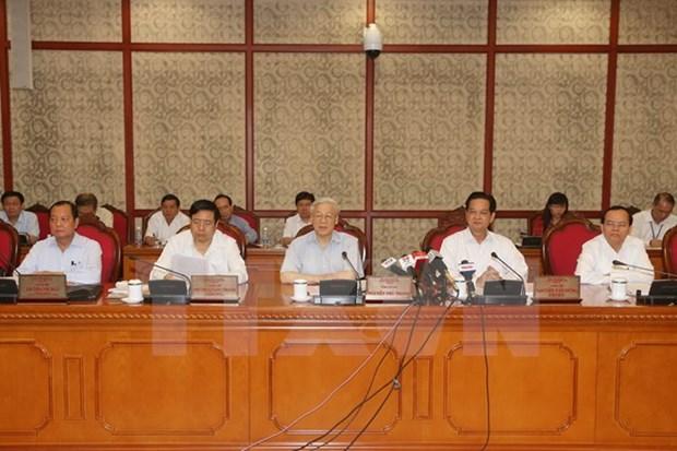 Le Bureau politique donne ses avis pour le 16e Congres de l'Organisation du Parti de Hanoi hinh anh 1
