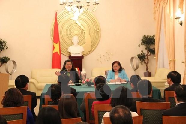 La vice-presidente de l'AN Tong Thi Phong rencontre la diaspora vietnamienne en Allemagne hinh anh 1