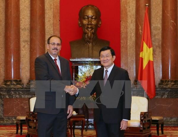 La visite du president Truong Tan Sang consolidera les liens d'amitie Vietnam-Cuba hinh anh 1