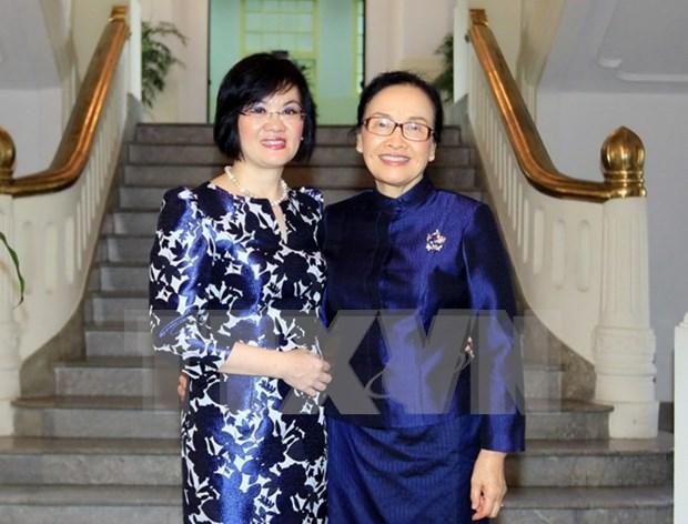 Vietnam - Laos : Renforcement de la solidarite entre femmes diplomates hinh anh 1