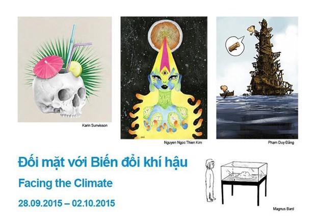 Dereglement climatique : exposition de dessins satiriques hinh anh 1