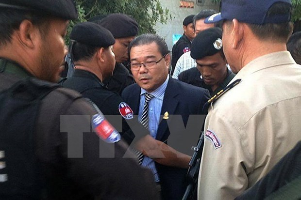 La Cour du Cambodge commence le proces de senateur d'opposition Hong Sok Hour hinh anh 1
