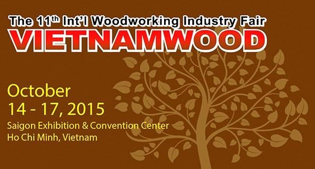 1.200 machines de traitement du bois a la foire-exposition «Vietnamwood 2015» hinh anh 1